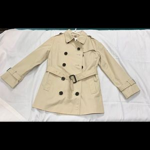 BURBERRY Child Cotton Double Breasted Trench Coat